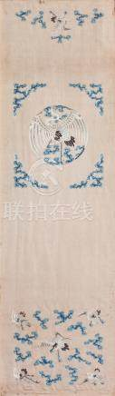 A silk-embroidered chair cover  Qing Dynasty, 19th century