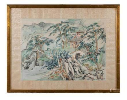 CHINESE PAINTING OF LANDSCAPE, WANG YACHEN