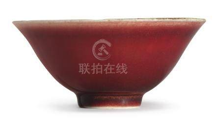 A RARE RED-GLAZED BOWLQING DYNASTY, KANGXI PERIOD