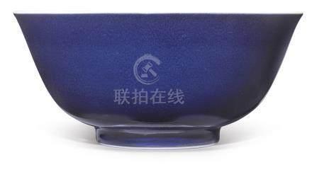 A BLUE-GLAZED BOWL YONGZHENG MARK AND PERIOD