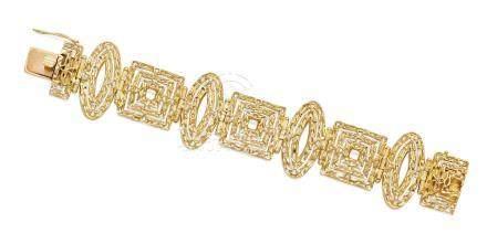 An 18k gold bracelet, Ilias LaLaounis, Greek