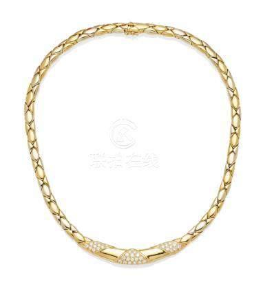 A Diamond and 18K Bi-Color Gold 'Rumba' Collar, Cartier