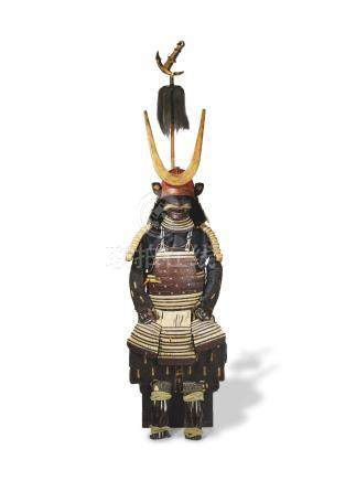 A suit of armor with an unusual sashimono (standard) Edo period (1615-1868), 18th century