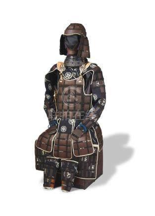 A karutagane tatami gusoku (Chain mail suit of folding armor) Edo period (1615-1868), 19th century
