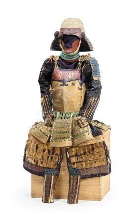 A gold ishime-lacquer nerikawa armor Edo period (1615-1868), 18th century