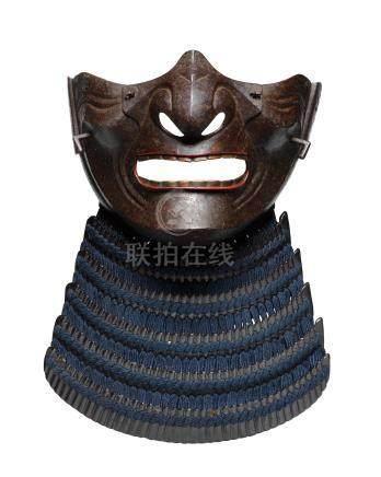 AN IRON MENPO (FACE MASK) Edo period (1615-1868), 18th century