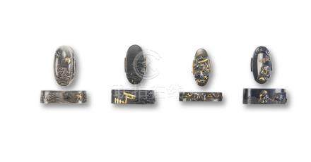 Four pairs of fuchi-gashira Edo period (1615-1868), 19th century