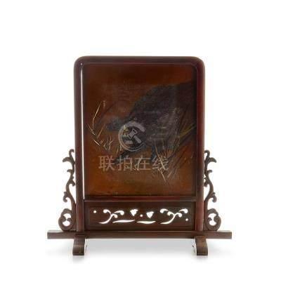 Mitsutsugu (active late 19th century) A table screenMeiji period (1868-1912), late 19th century