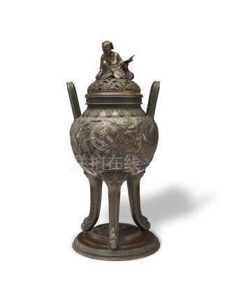 A large bronze Incense Burner Edo perod (1615-1868), 19th century