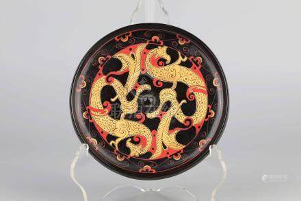 Warring States Lacquer Bronze Phoenix Mirror