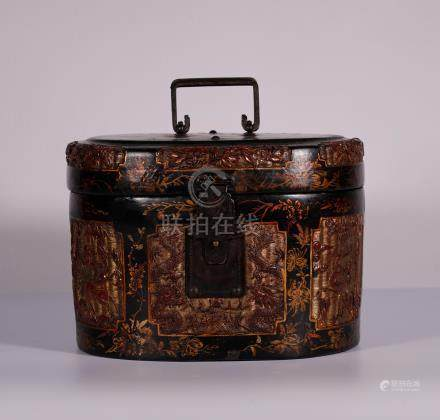 A Warring States Red Lacquer Carved Box