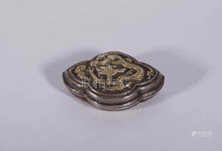 Liao Gilt Silver 'Dragon' Carved Powder Compact
