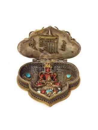A RARE AND ORNATE GAU WITH BUDDHA AMITAYUS