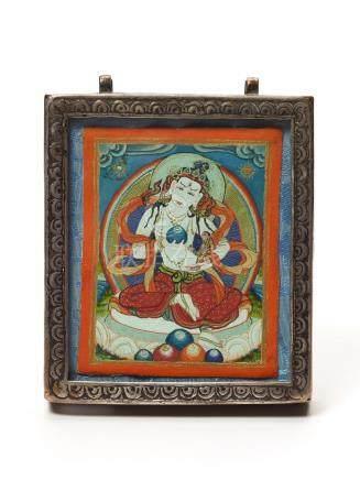 TIBETAN GAU BOX WITH WHITE TARA – LATE 19th CENTURY
