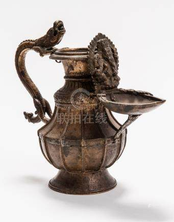 LIBATION VESSEL WITH DRAGON AND GANESHA