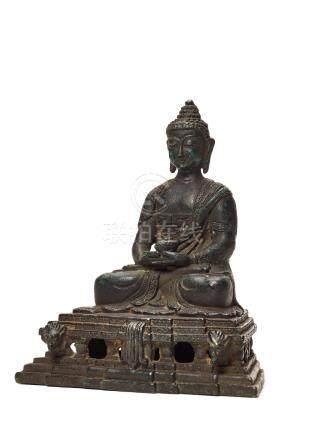 A TIBETAN BRONZE DEPICTING BUDDHA AMITABHA