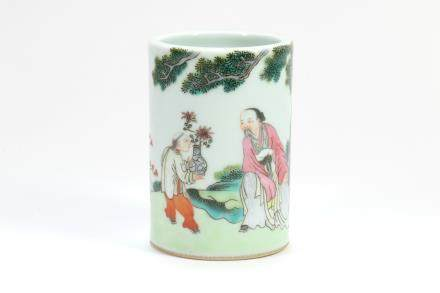 Chinese Famille-Rose Porcelain Brush Pot