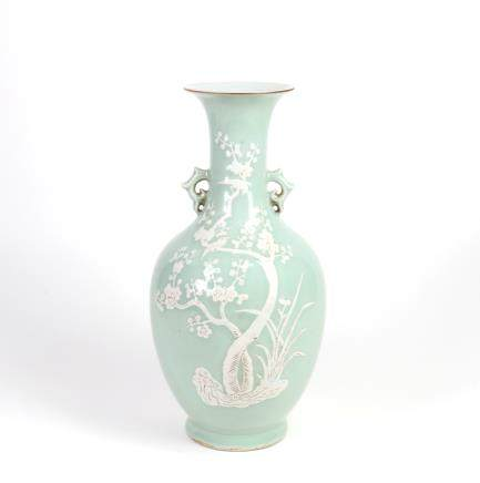 Chinese Porcelain Vase with Double Ears