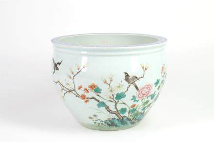 Chinese Famille-Rose Porcelain Fish Bowl