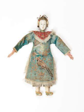 A PRECIOUS CHINESE PUPPET OF A MANCHU COURT LADY, QING …