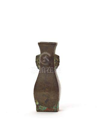A RARE MINIATURE BRONZE VESSEL, SONG DYNASTY