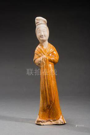 TL TESTED FIGURINE OF A COURTLY LADY
