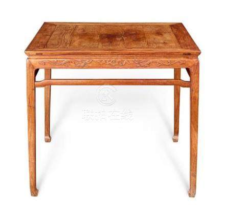 A huanghuali square table Qing dynasty 84 cm high, 92.5 cm w
