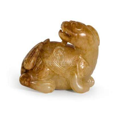 A jade carving of a qilin Qing dynasty, 19th century 4.5 cm