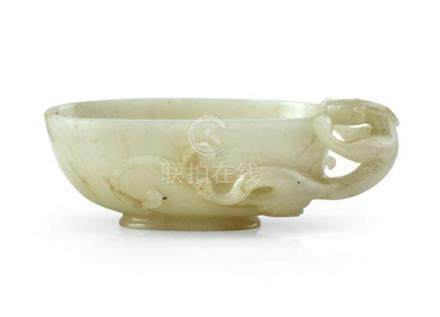 A small jade 'chilong' washer Qing dynasty, 19th century 10