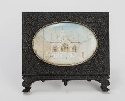 MINIATURE PAINTING OF A PALACE – INDIA, LATE 19TH CENTU…