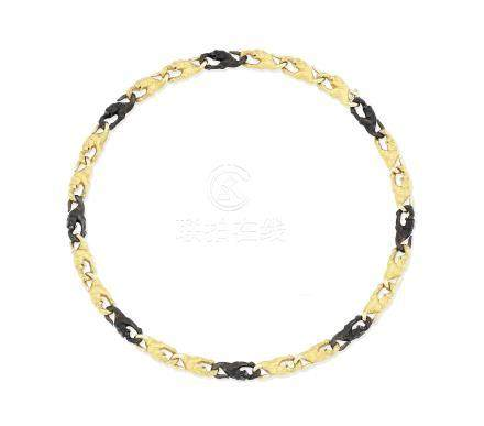 A fancy-link necklace, by Carrera y Carrera