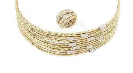 A diamond choker and ring  (2)
