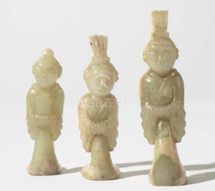 Three Chinese Jade-Figures