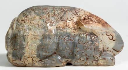 Chinese Jade Rabbit, ca. 15,5 x 8 x 7 cm