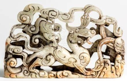 Chinese Jade Dragon, 23 x 14 x 3,5 cm