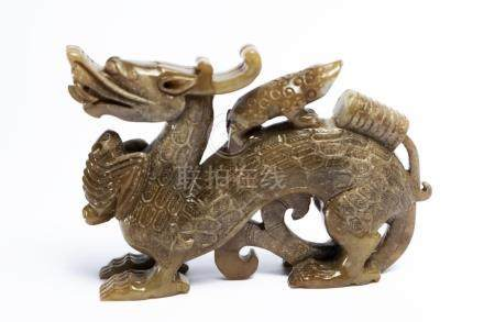 Chinese Jade-Dragon, 12 cm long