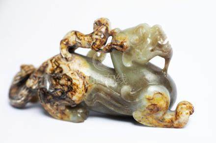 A Chinese Jade Mythical Beast