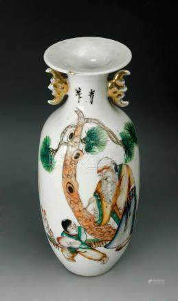 A 20th century Chinese porcelain vase
