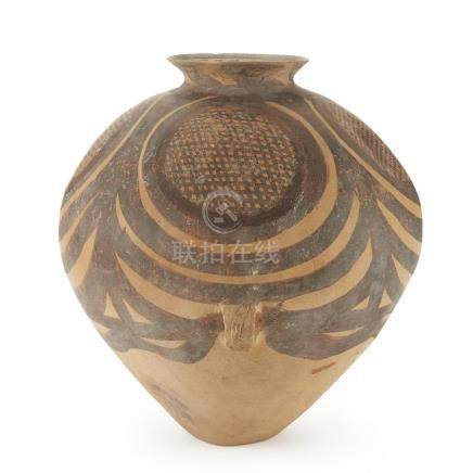 A Chinese Neolithic painted pottery jar, Banshan culture,