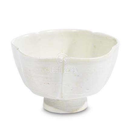 A small Chinese Dingyao-type five-lobed footed cup, Five dyn
