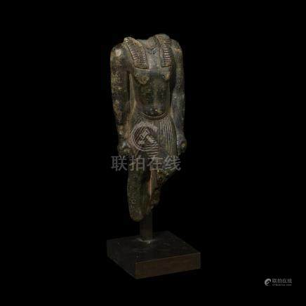 ANCIENT EGYPTIAN TORSO OF A STRIDING KING, XXI-XXIVth Dynast