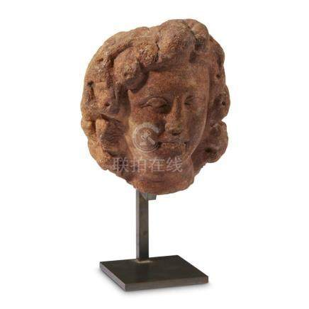 ROMAN HEAD OF DIONYSOS, 2nd Century AD