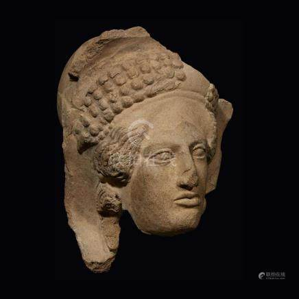 ETRUSCAN HEAD OF A FEMALE, 4th Century BC
