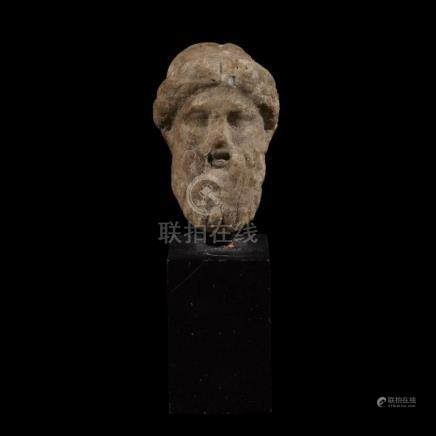 ROMAN HEAD OF ZEUS, 2nd Century AD