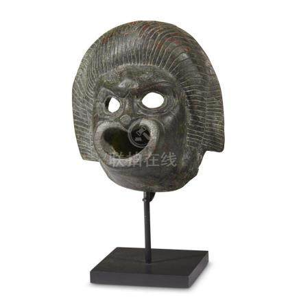 ROMAN WATER SPOUT IN THE FORM OF A MASK, 1st-2nd Century AD