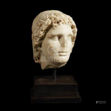 ROMAN HEAD OF ALEXANDER THE GREAT AS HELIOS, C. 2nd Century