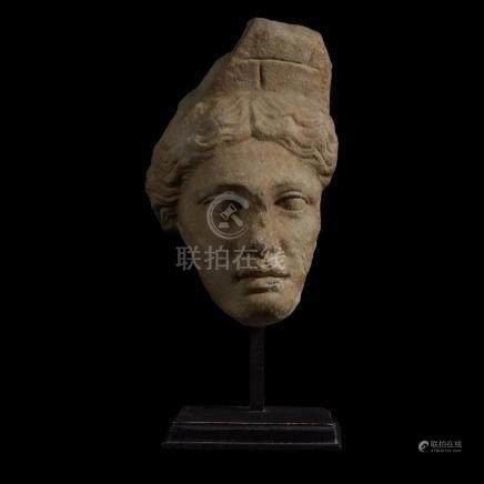 ROMAN HEAD OF TYCHE, C. 1st Century AD