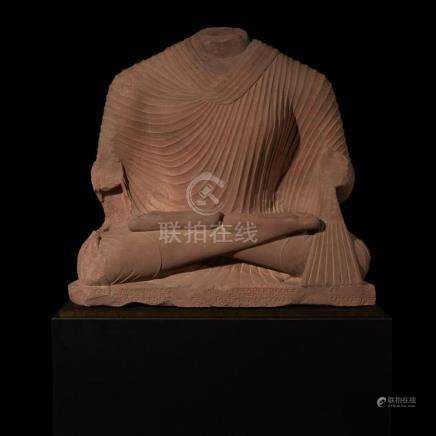 OVER LIFE-SIZED SCULPTURE OF BUDDHA, Mathura, Kushana Period