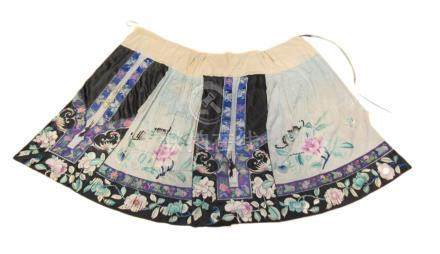Pleated and Embroidered Chinese Skirt.