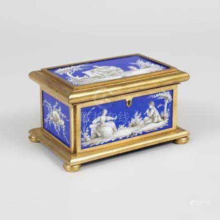Continental Gilt-Bronze and Cobalt Porcelain Table